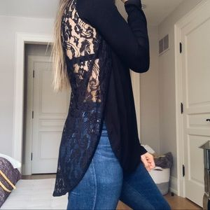 Black Lace Aritzia Top